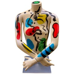 Peter Keil Abstract Expressionist Painted Mannequin Torso