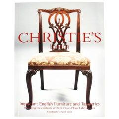 Christie's, Important English Furniture & Tapestries, Contents Petit Fleur d'Eau