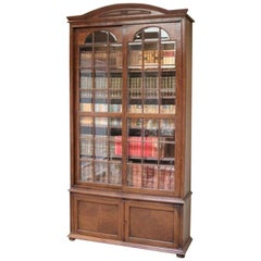 Solid Oak Glazed Bookcase