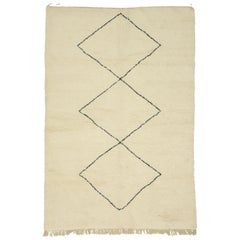 Contemporary Moroccan Rug, Berber Moroccan Rug with Organic Modern Hygge Style