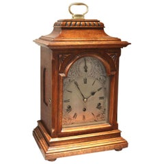 Oak Westminster Chime bracket Clock