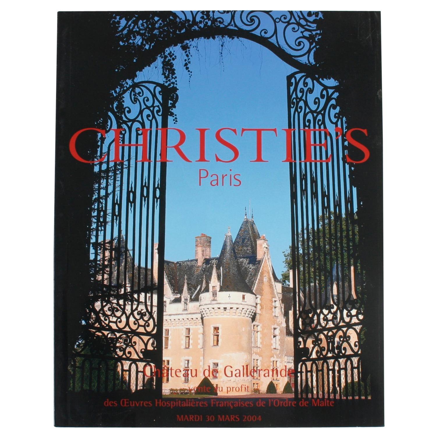 """Christie's: """"Paris, Chateau de Gallerande"""", March 2004"""