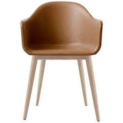 "Harbour Chair, Legs in Natural Oak, Nevotex ""Dakar"" #0250 'Cognac'"