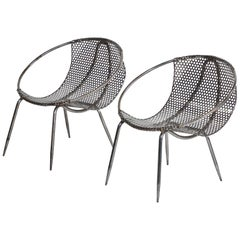 Pair of Metal Tub Chairs