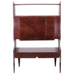 Ico Parisi Style 1960 Midcentury Design Rosewood Bar Cabinet
