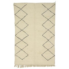 New Berber Moroccan Rug with Organic Modern Hygge and Bauhaus Style