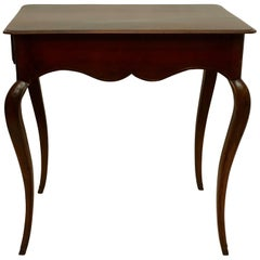 Louis XVI Mahogany Work Table with Single Drawer, French, circa 1790