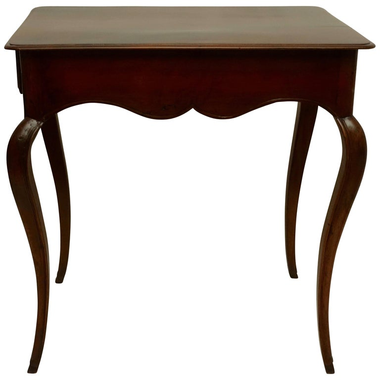 Louis XVI Mahogany Work Table with Single Drawer, French, circa 1790 For Sale