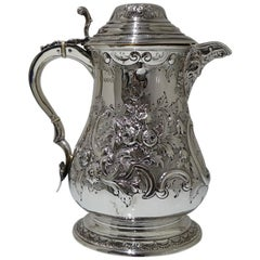 Antique Victorian Sterling Silver Flagon London 1882 Aldwinckle & Slater