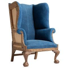 High Back Winged Armchair, England, circa 1910
