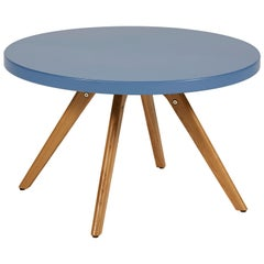 K17 Low Round Table 80 in Pop Colors Yellow by Tolix