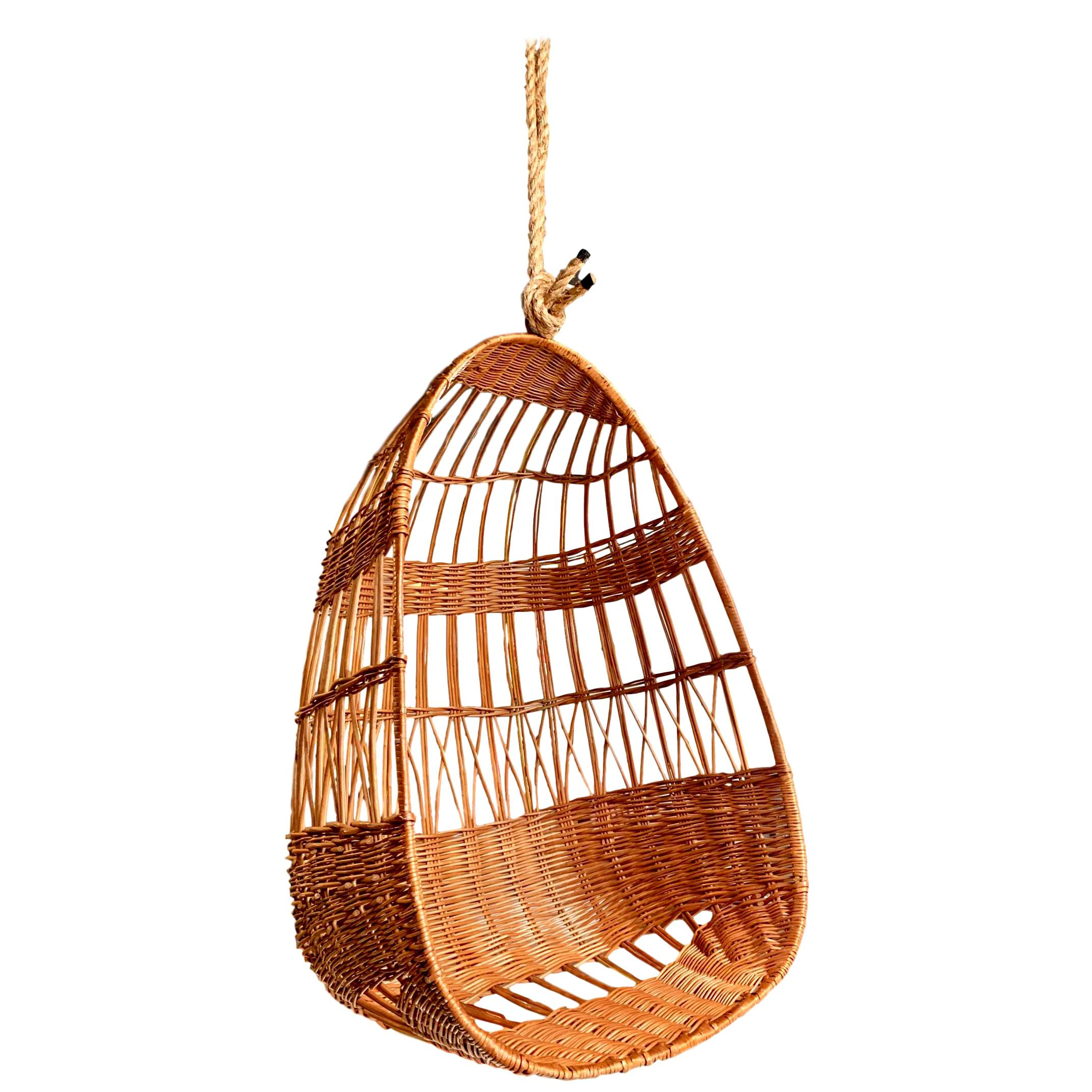 Rattan And Wicker Hanging Chair