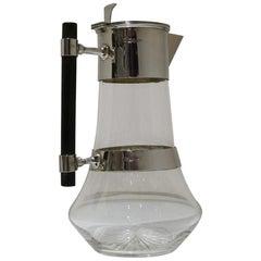 Edwardian Sterling Silver and Glass Claret Jug Sheffield 1907 Walker & Hall