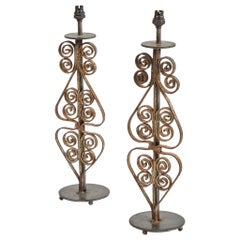 Pair of Iron Lamps