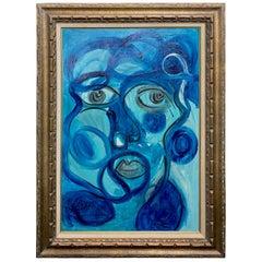 "Peter Keil ""La Chanson"" Expressionist Portrait Painting of Charles Aznavour"