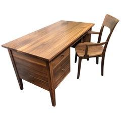 Custom Walnut Desk and Chair by Vermont Wood Studio