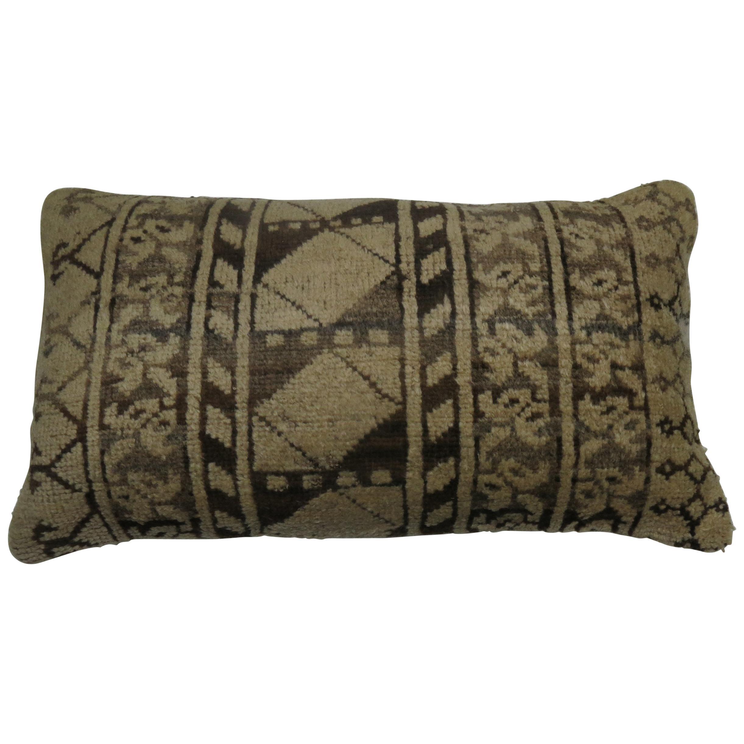 Tribal Antique Ersari Rug Bolster Pillow