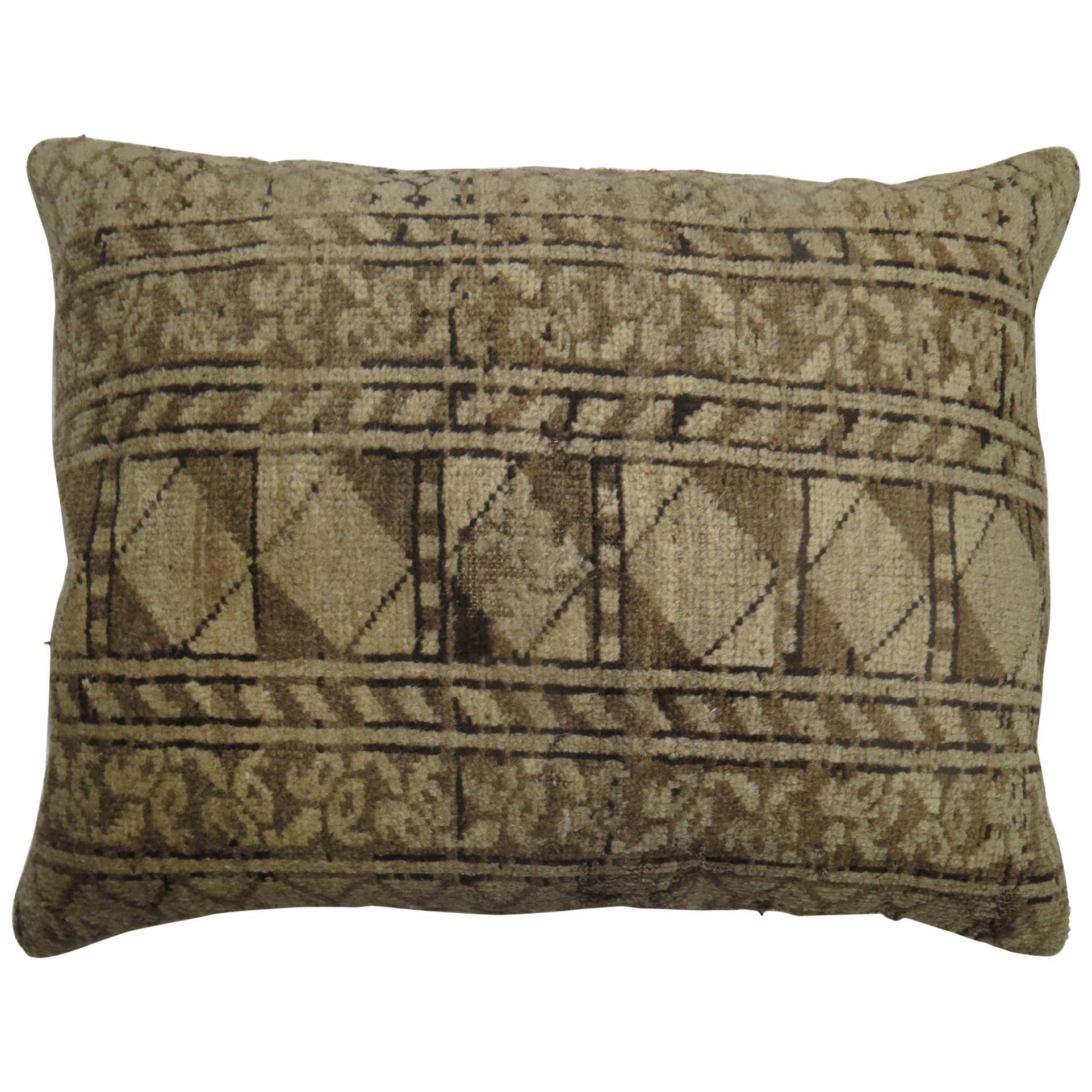 Tribal Antique Ersari Rug Floor Pillow