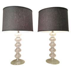 Pair of Murano Glass Lamps by Cenedese