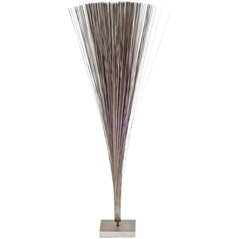 "Harry Bertoia Early Stainless Steel ""Spray"" Sculpture, USA 1960s For Sale"