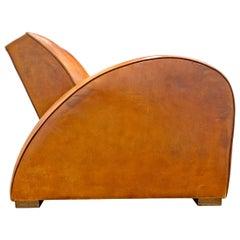 French Art Deco Race Car Club Chair