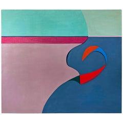 "Acrylic on Canvas, ""No Man's Island"", Betty Usdan-Zwickler, 1982"