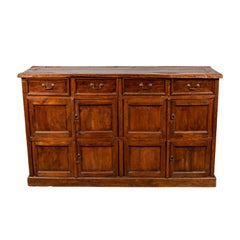 Large Teak Cabinet from Java, with Four Drawers and Four Sets of Double Doors