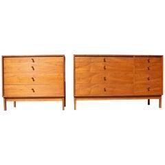 Set of Walnut Dressers by Artist and Furniture Maker Richard Artschwager