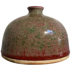 Chinese Peachbloom-Glazed Beehive Water Pot, Taibai Zun, Guangxu Mark