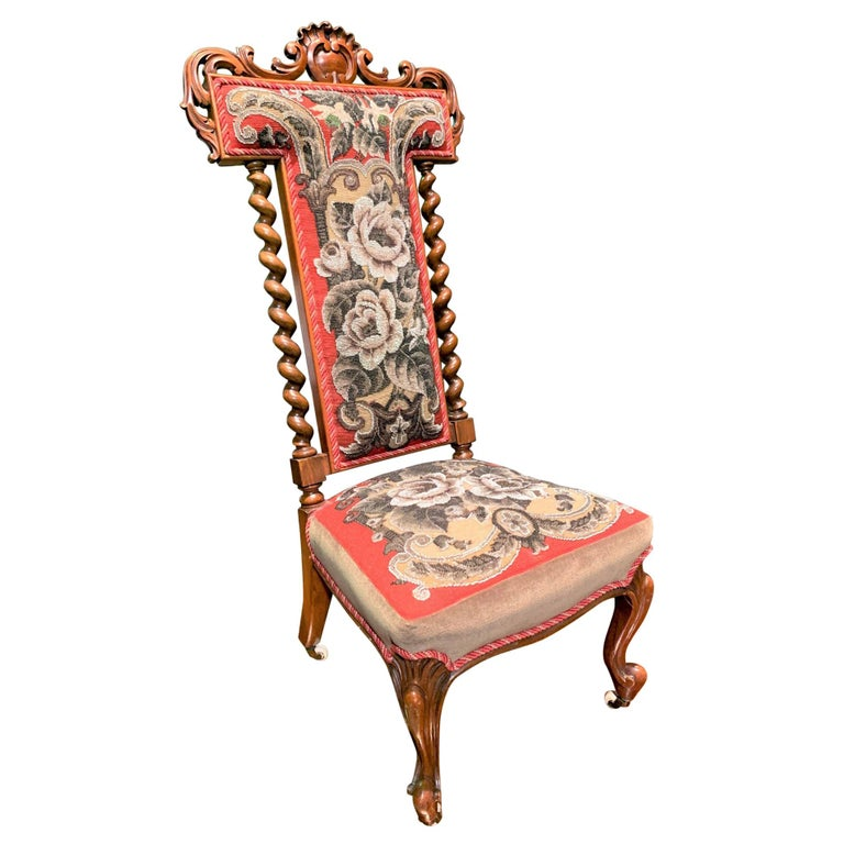 19th Century English Victorian Slipper Chair For Sale