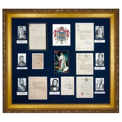 Framed Napoleonic Government Documents