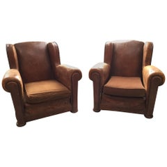 Antique French Club Chairs