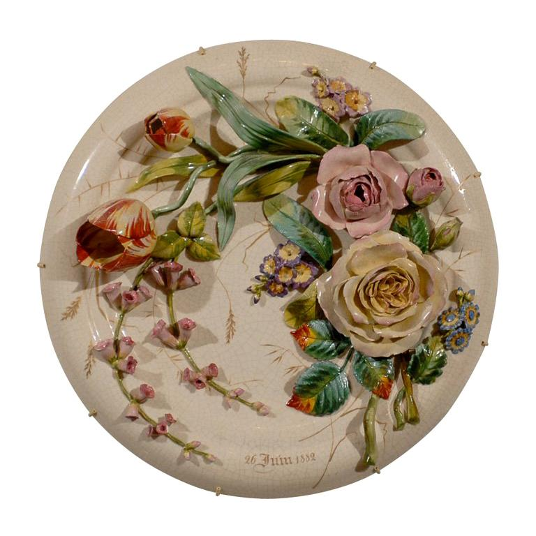 19th Century Porcelain Plate For Sale