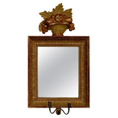 18th Century Swedish Giltwood Mirrored Sconces