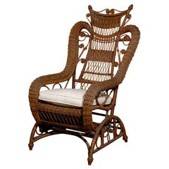 19th Century Wicker Rocking Chair from England