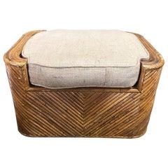 Midcentury Gabriella Crespi Style Italian Bamboo Bench
