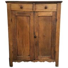 1940s Rustic American Wood Hutch