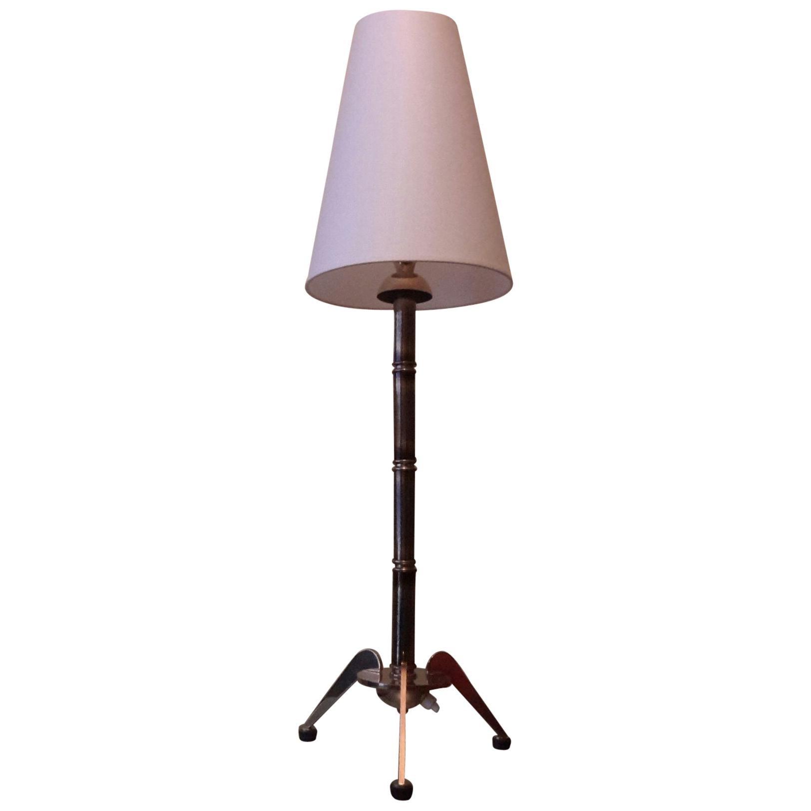 Maison Jansen  Bronze Table Lamp, France, 1950