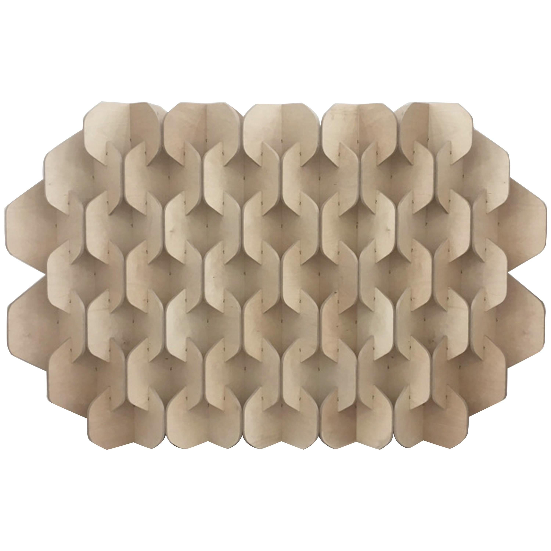 Hive Screen (Minimalist, Contemporary, Sculptural Room Divider)