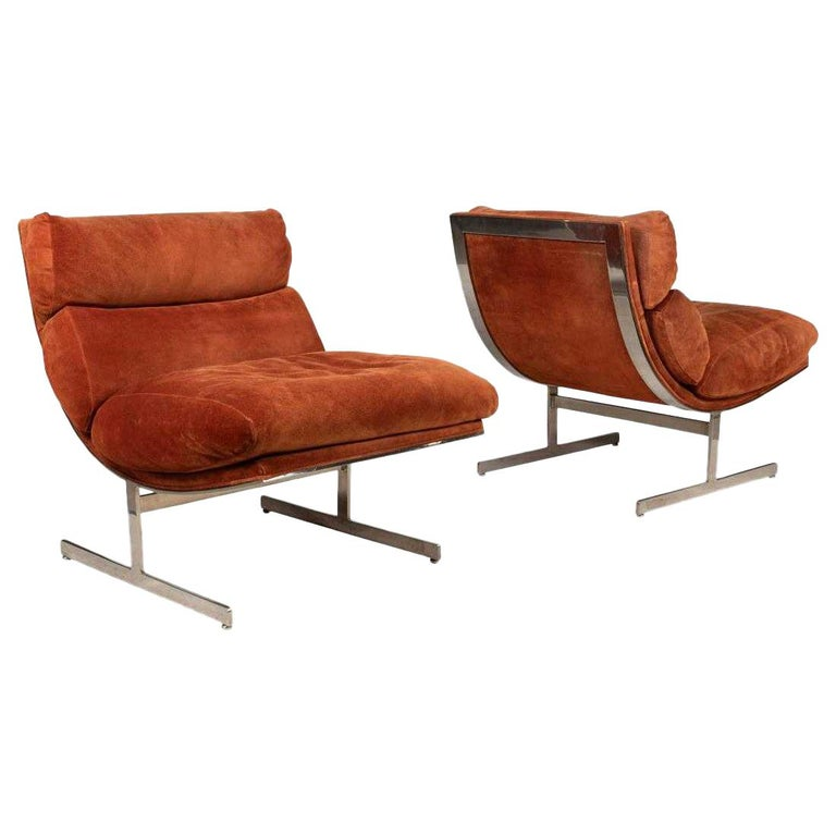 Pair of Kipp Stewart for Directional lounge chairs, 1960s, offered by Flavor