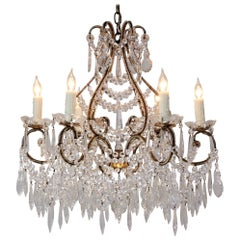 1940s Italian Crystal Beaded Chandelier