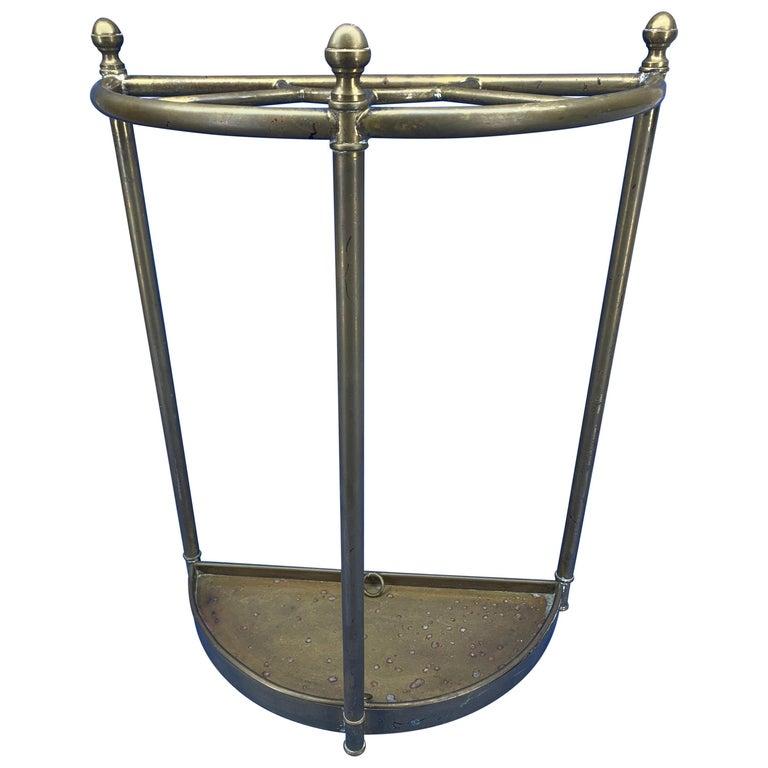 Italian midcentury brass umbrella stand.