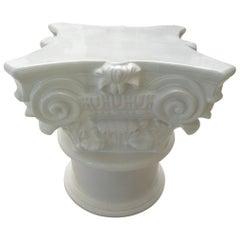 White Corinthian Pedestal Base