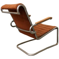 Gebr. de Wit Original Easy Chair with First Fabric, circa 1930
