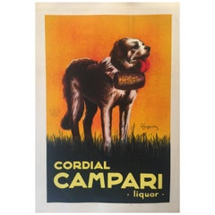 Original Vintage Poster 'Campari Liquor Le Saint Bernard' by Leonetto Cappiello