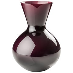Venini Idria Large Glass Vase in Violet