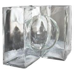 Venini Ando Cosmos Vase in Crystal by Tadao Ando