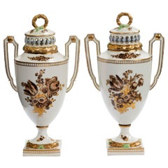 Pair of Late 18th Century Augustus Rex Vases