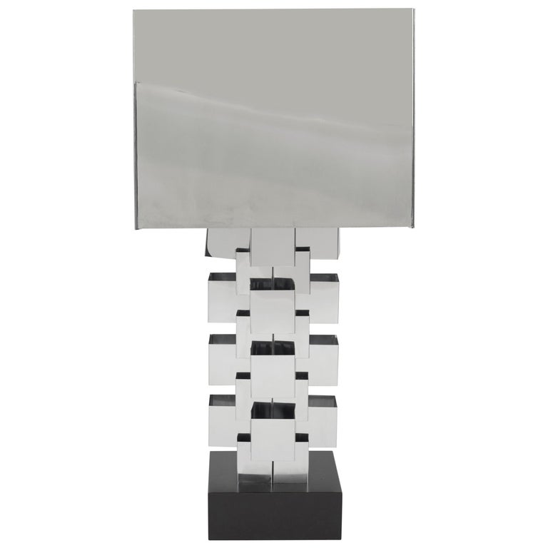 Curtis Jeré Skyscraper lamp, ca. 1972, offered by Modern Drama
