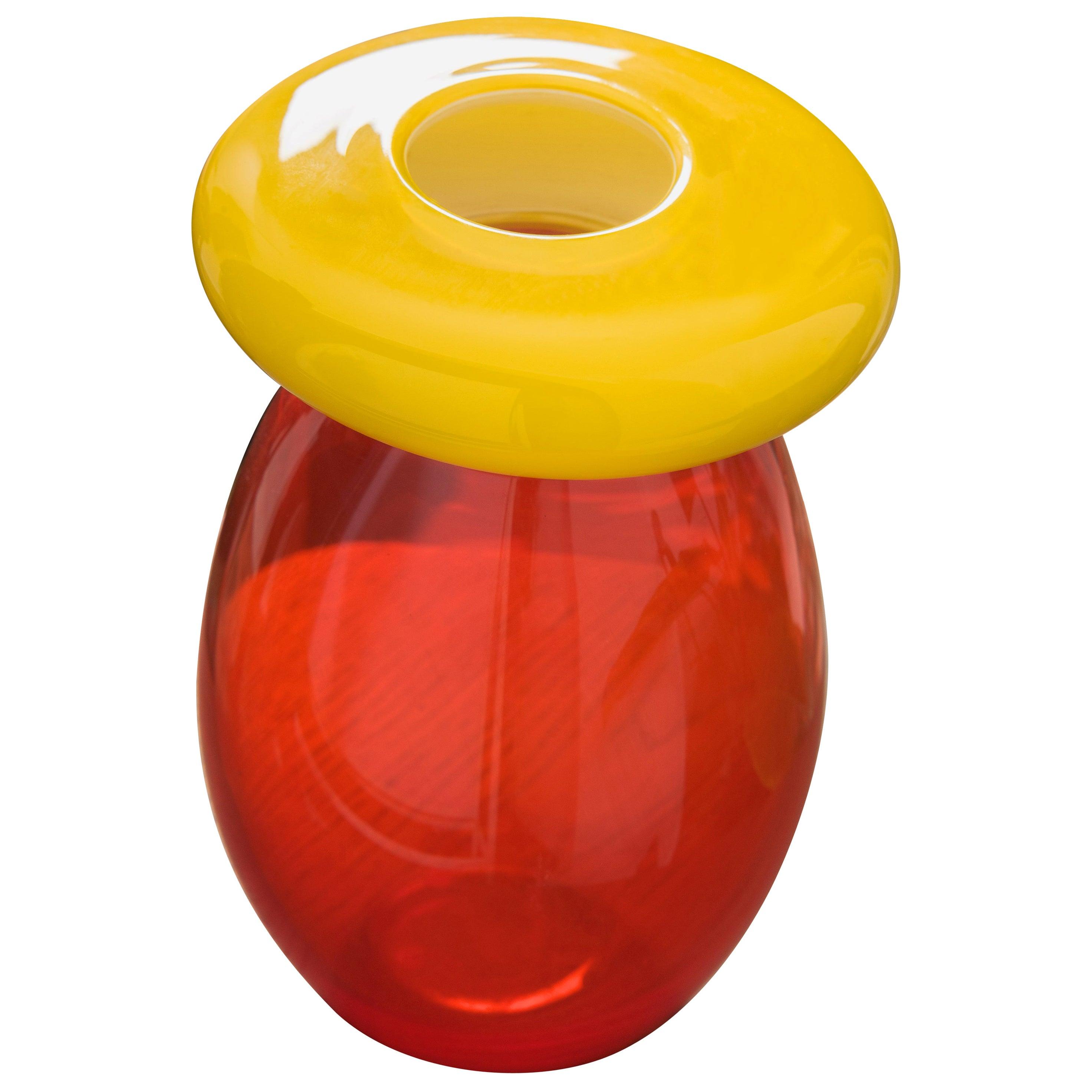 21st Century Karim Rashid Queen Vase Murano Glass Various Colors